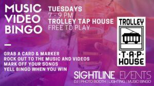Trolley Tap House Music Video Bingo