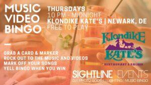 Klondike Kate's Music Video Bingo