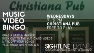 Wednesday Music Video Bingo Christiana Pub @ Christiana Pub | Newark | Delaware | United States