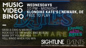 WEDNESDAY NIGHT - Music Video Bingo Klondike Kate's @ Klondike Kate's Restaurant & Saloon, Newark, Delaware | Newark | Delaware | United States