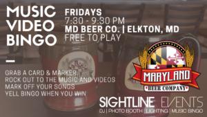 FRIDAY NIGHT - Music Video Bingo @ Maryland Beer Company, Elkton, Maryland | Elkton | Maryland | United States
